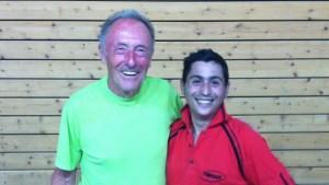 Dietmar und Luca (rechts), Sieger des Doppelturniers 2012