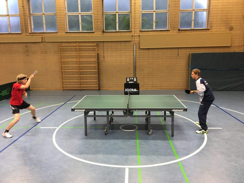 Tilman und Marcel spielen sich ein
