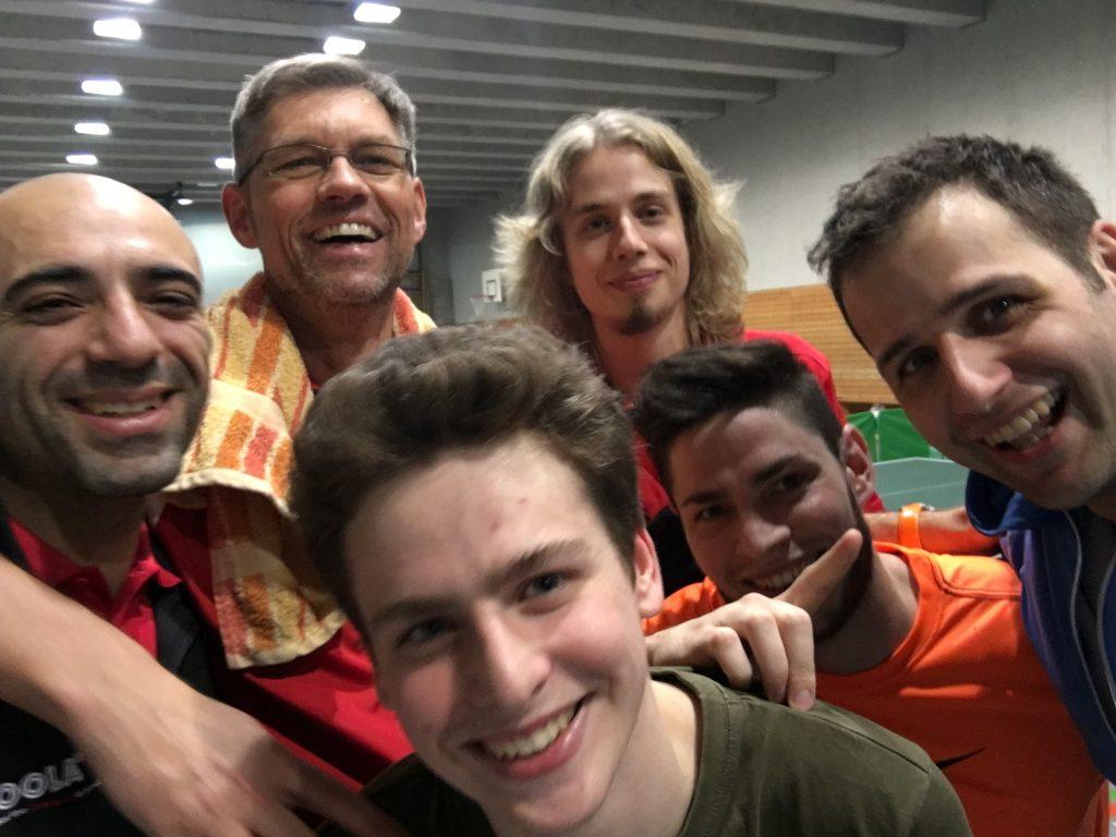 Siegreich: Hanna, Norbert, Leo, Tilman, Matthias und Lorenz